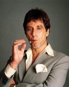 Al Pacino as Tony Montana. Like Him or Love Him Everything Screams Bad MoFo!